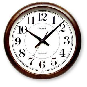 さんてる レトロ調大型掛け時計 スイープムーブメント QL680 サンテル 日本製 clock-shop-cecicela