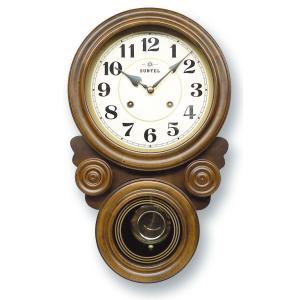 格調高く時の訪れを告げます! ボンボン報時付き だるま振り子時計 QL687A サンテル 日本製 clock-shop-cecicela