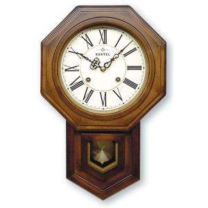 格調高く時の訪れを告げます! ボンボン報時付き だるま振り子時計 QL688R サンテル 日本製 clock-shop-cecicela