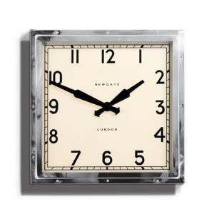 NEW GATEニューゲート掛け時計 QUAD WALL CLOCK クロ―ム QUAD42CH|clock-shop-cecicela