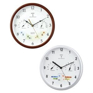 温度計付 エンペックス ウェザーパル電波時計 壁掛け時計 イ...