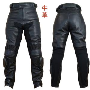 【Clooney】 P03 本革 カウハイド レザーパンツ(牛革) ブーツイン バンクセンサー付 メンズ 革パンツ|clooney-store
