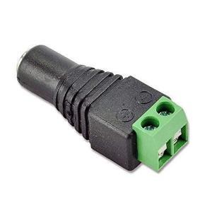 LEDテープライト専用DCコネクター 変換プラグ dcジャック変換アダプタ  メス5.5×2.1 五つセット|clorets