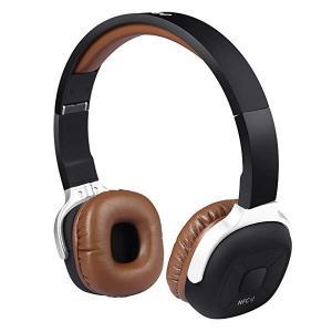 ワイヤレスヘッドホン 密閉型 NFC搭載 Bluetooth 4.1ヘッドホン 歩数計機能 軽量 マ...