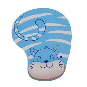 可愛いアニメ動物柄 立体マウスパッド 低反発 疲労軽減 オシャレ 人気なマウスパッド (藍猫)