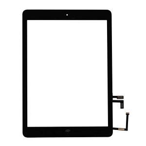iPad airタッチパネル 修理交換用パネル 強化ガラス 粘着テープ 修理ツール付き (ブラック)