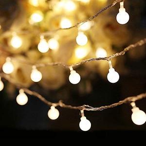可愛くて小さなボールLEDイルミネーションライト 4m 40球根 ストリングライト 電池式 飾り ワイヤーライト 防水 キャンプ用 パ ...|clorets