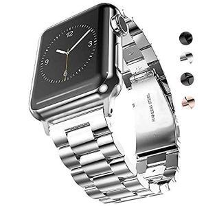 for Apple Watch バンド 42mm&44mm ステンレス, ビジネス風のベルト、アップルウォッチバンド 高品質なステンレススチール製バン...|clorets