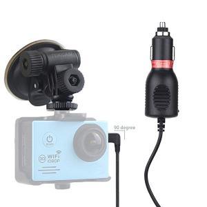 2in1 車載吸盤マウント&車載アクションカメラ充電器/車載ライター スポーツカメラ用IVSO AK...