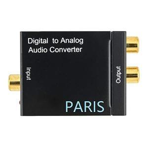 同軸デジタル アナログ 音声 変換アダプタ DACデジタル(光/同軸) to アナログ(RCA) オーディオ変換器 コンバーター 金メッキ端子...|clorets