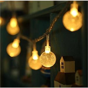 イルミネーションライト ストリングライト クリスマス パーティー 結婚式 誕生日 飾りライト バブル型 コンセント 電飾 室内室外...|clorets