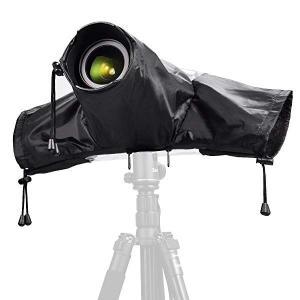 防水 レインカバー キャノン・ニコン・DSLR用カメラプロテクター ブラック