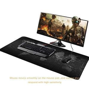 マウスパッド FPSゲーム向けゲーミング マウスマット 大型 防水 900 X 400mm (世界地...