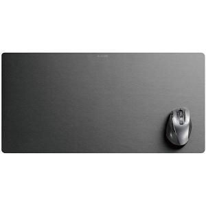 色:ブラック ■マウスだけでなく、ノートパソコンやキーボードを置くスペースを確保した大きなマウスパッ...