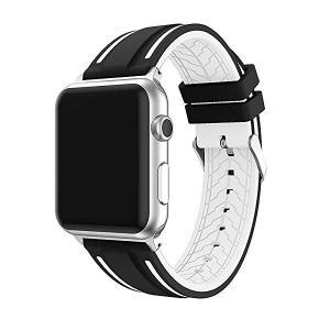 Apple Watch バンド、 スポーツバンド シリコーン 全機種対応 for Apple Watch Series 4 40mm / Series 1 2 3 38mm[ブラッ ... 送料無料|clorets