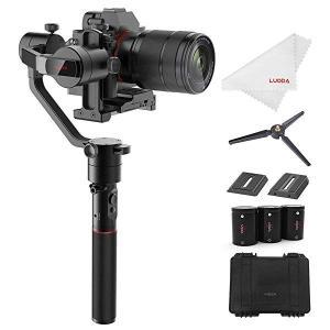 カメラスタビライザー AirCross ミラーレスカメラ 3軸手持ちジンバル 1800gの搭載重量 自動チューニング 遅延撮影 4操作モード 1...|clorets