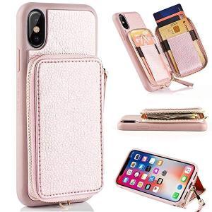 iphone x ケース iphone XS ケース アイフォンxケース レザーケース カード入れ機能付き 背面型財布 耐衝撃カバー iPhone 10 高 ...|clorets