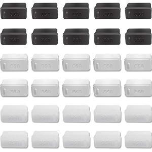 USB コネクタカバー キャップ 黒10個 白10個 透明10個 メス用 オス用 USB2.0/US...