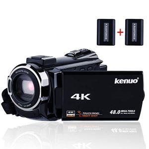 デジタル4Kビデオカメラ WIFI機能 ナイトビジョン撮影 ホットシュー機能 2400万画素 48MP 16倍デジタルズーム 270度回転 3イン ...|clorets