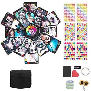 アルバム サプライズボックス ギフトボックス DIY ロマンチック カード ギフト ハンドメイド 爆発ボックス 手作り ラブメモリフ ...|clorets