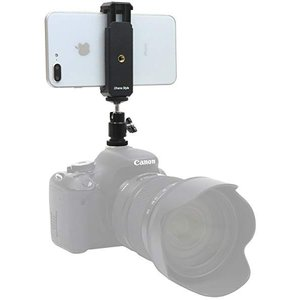 カメラ ホットシュー スマホ アダプター 自由雲台 2way スマートフォン ホルダー 角度調節可能...