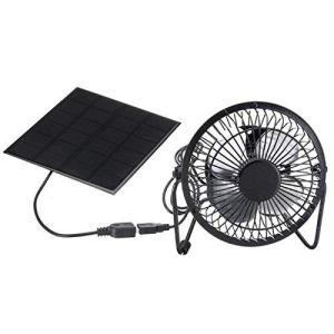 ソーラーパネルパワードファン3W 6V屋外ポータブルミニファンUSB充電式冷却ファン旅行キャンプ釣りのための|clorets