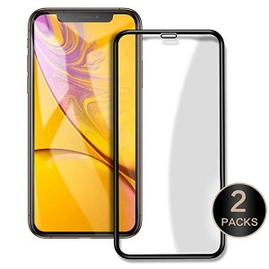 iphone XR 6.1'用液晶画面保護フィルム 強化ガラス 9H硬度 3D フルカバー アイフォ...