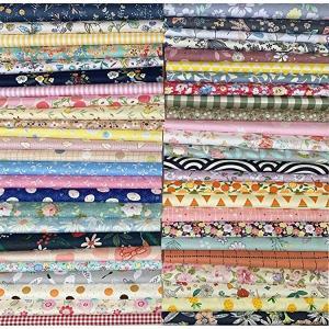 生地 はぎれセット 50枚 綿 花柄 DIY手作り カットクロス パッチワーク 布 (20cm x 20cm) 送料無料|clorets