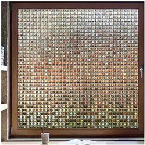 窓 めかくしシート ガラスフィルム 目隠し 断熱 リメイク 無接着剤 貼ってはがせる 窓用フィルム シール ステンドグラス 窓に貼 ...|clorets