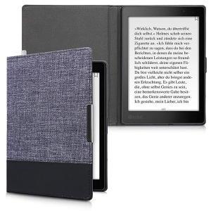 ・キャンバス地とレザー風ミックス: 紺色 黒色のフリップカバーを使用すると、eBookリーダーを頑丈...