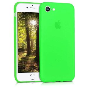 送料無料 Apple iPhone 7 8 ケース スマホカバー 携帯 保護ケース ネオングリーン|clorets