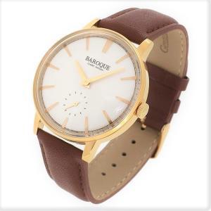 BAROQUE【バロック】BA1008G-01BR シンプルヴィンテージデザイン メンズ 腕時計 クォーツ 正規品 おまけ付 clost