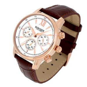 BAROQUE【バロック】 BA1009RG-01BR  クラシカルな美しさを追及したデザイン メンズ 腕時計 クォーツ 正規品 おまけ付 clost