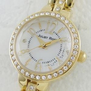 送料無料 ジュリエット ローズ 時計 天然ダイヤ シチズン製 レディース 腕時計 ゴールド シェル クリスタル JUL118G-01M 国内正規品|clost