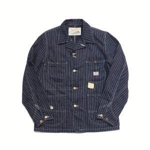 シュガーケーン SUGARCANE ワークコートカバーオール・SC14372 9oz. WABASH STRIPE WORK COAT |clothingstorespirits