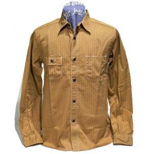 シュガーケーン SUGARCANE フィクションロマンス 長袖ワークシャツ・SC28516 8.5oz BROWN WABASH STRIPE WORK SHIRT|clothingstorespirits