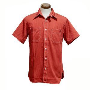 シュガーケーン SUGARCANE FUICTION ROMANCE 半袖シャツ ワークシャツ・SC38452 FICTION ROMANCE 8.5oz RED WABASH STRIPE WORK SHIRT SS |clothingstorespirits