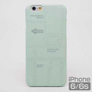 スマホケース iPhone6・6s 飛行機の機体表面アイフォンカバー エアRESCUE(レスキュー)