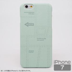スマホケース iPhone7 飛行機の機体表面アイフォンカバー エアRESCUE(レスキュー)