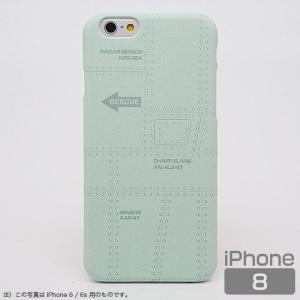 スマホケース iPhone8 飛行機の機体表面アイフォンカバー エアRESCUE(レスキュー)