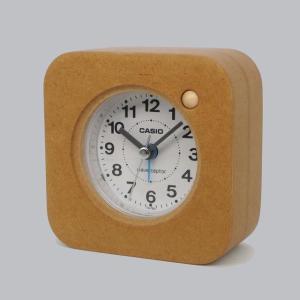 木製目覚まし時計 CASIO TQ-750J-7JF[電波時計]内蔵|clothtree