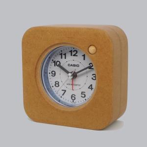 木製目覚まし時計 CASIO TQ-750J-2JF[電波時計]内蔵|clothtree