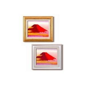 送料無料 丹羽勇 油絵額F6 「赤富士」代引き・同梱不可 |cloudnic