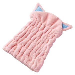 条件付き送料無料 吸水ヘアキャップ 猫代引き・同梱不可 かわいい 猫耳 ドライ|cloudnic