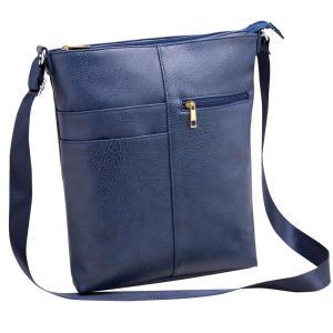 条件付き送料無料 ポケットいっぱいのショルダーバッグ  ネイビー代引き・同梱不可  cloudnic