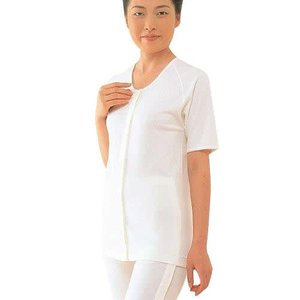条件付き送料無料 コベス ワンタッチ肌着 婦人前開き5分袖(ホック式) NO.51F代引き・同梱不可 |cloudnic