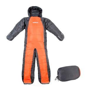 送料無料 CAPTAIN STAG 洗える人型シュラフ(オレンジ×グレー) UB-0009代引き・同梱不可 |cloudnic