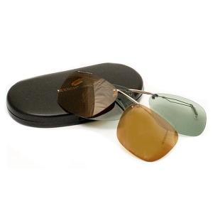 条件付き送料無料 エッシェンバッハ クリップオンサングラス 偏光機能付きクリップサングラス 2997代引き・同梱不可 ゴルフ オーバーサングラス uvカット|cloudnic