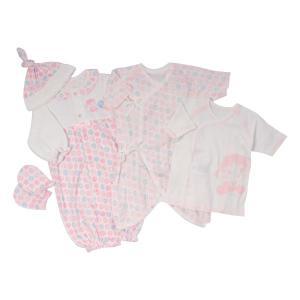 条件付き送料無料 ベビー服 BabyPeko ベビーペコちゃん 初めてのお洋服セット P-60864代引き・同梱不可 ドレス ミトン 肌着|cloudnic