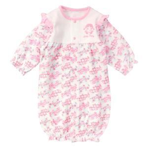 条件付き送料無料 BabyPeko ベビーペコちゃん 新生児服 2WAYドレス 50〜70cm代引き・同梱不可 赤ちゃん ロンパース 便利|cloudnic